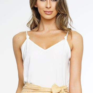 Bailey Knot Top - White