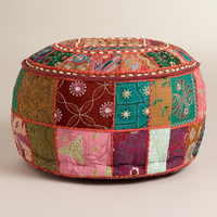 Red Suti Pouf - World Market