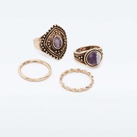 Bohemian Multi-Ring Pack - Urban Outfitters