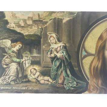 Colection of 10 Vintage French Postcards /// Images of the Life and Death of Christ /// Colored