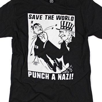 Save The World, Punch A Nazi! T-Shirt