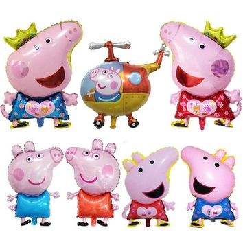 July Forest Newly Cute Pig Toy Children's Air Foil Balloons Cartoon Pink Pig for Children Funny Party & Birthday Decoration
