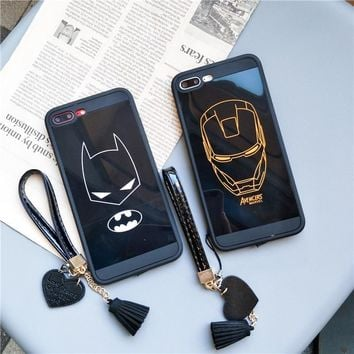 Batman Dark Knight gift Christmas Iron Man Batman Marvel Case For Iphone X XS MAX XR 10 8 7 6 6s 10 Plus Soft Silicone Full Phone Cover Cases Plastic Coque Cases AT_71_6