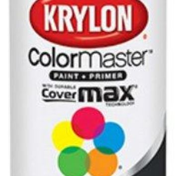 Krylon® K05160102 Colormaster™ Spray Enamel Paint & Primer, 12 Oz, Gloss Black