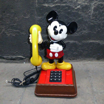 Mickey Mouse 1976 Walt Disney Productions Telephone