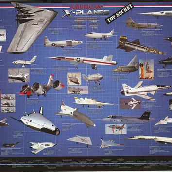 American X-Planes Experimental Aircraft Poster 24x36
