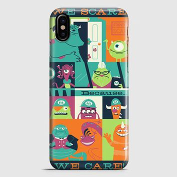 Monster Inc Quotes iPhone X Case