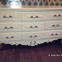 Fabulous and Baroque — Josette 9 Drawer Dresser - White - Custom Build - Client Photo