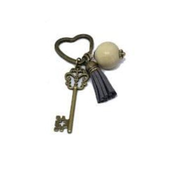 Antique Bronze Key & Things Keychain