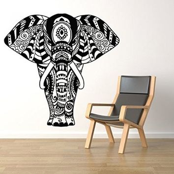 Wall Decals Elephant Namaste Yoga India Patterns Tribal Buddha Ganesh Decal Vinyl Sticker Home Art Bedroom Home Decor Interior Design Art Murals Ms689
