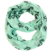 Squirrel Infinity Scarf- Mint green