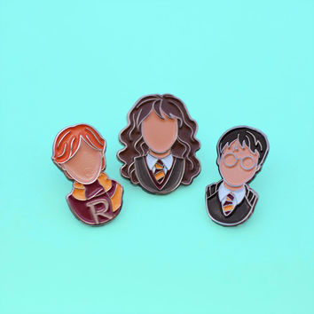 Harry Potter Trio Enamel Pins