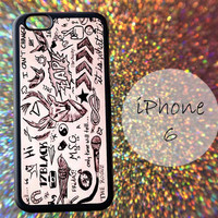 One Direction Tattoos Art Collage - cover case for iPhone 4|4S|5|5C|5S|6|6 Plus Note 2|3 Samsung Galaxy S3|S4|S5 Htc One M7|M8