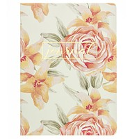 Vintage Roses Soft Cover Journal in Gold Foil
