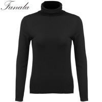 Women Turtleneck Autumn Sweater for Women Turtleneck Long Sleeve Basic Shirt Solid Bottoming Shirt Pullovers