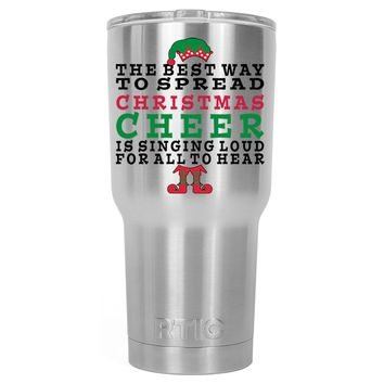RTIC The Best Way to Spread Christmas Cheer 30 oz Tumbler Cup