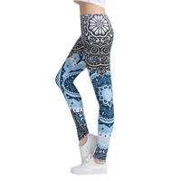 Round Ombre Printing Female Sexy Pants High Waist Trouser Leggins