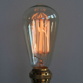 Edison Filament Light Bulb, Retro Industrial