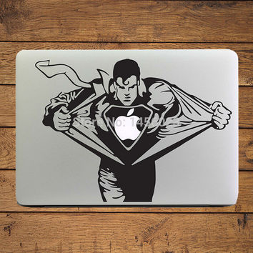 "Angry Superman Cool Design Laptop Decal Sticker for Apple MacBook Air/Pro/Retina 11"" 13"" 15"" Mac Art Cover Skin Notebook Sticker"