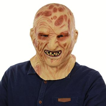New Realistic Adult Party Costume Horror Mask Deluxe Freddy Krueger Mask Scary  For Halloween Cosplay Zombie Mask