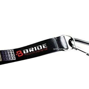 JDM Bride Wrist/Palm Lanyard Cell Holders Key Chain Carabiner+Black Hook