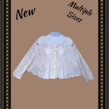 Chelsea and Violet embroidered top - feminine - size small