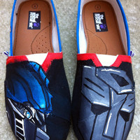 Transformers Optimus Prime Custom Shoes