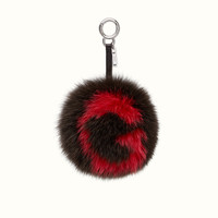 FENDI | ABCHARM G in brown and red fur