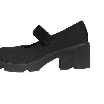 Mary Jane Platform Black Mary Jane 90s Mary Jane Shoe 90s Grunge Shoe 90s Platform Shoe Maryjane Shoe Size 10 Creeper Shoe Chunky Heel Shoe