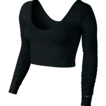 Nike Women's Gym Seamless Long Sleeve Bralette