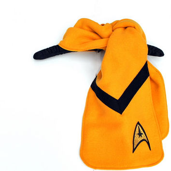 Star Trek Gold Commander Fleece Applique Scarf