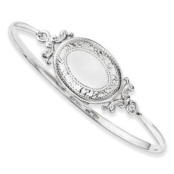 Sterling Silver Vintage Locket Bangle