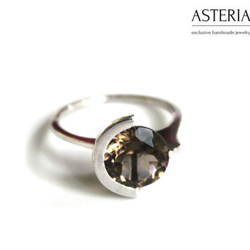 Solitaire ring - Promise ring - Elegant jewelry - Minimalism jewelry - Elegant ring - Delicate ring - Modern jewelry