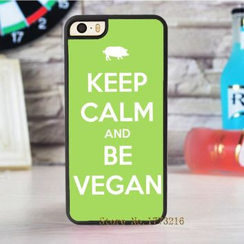 Keep Calm Vegan fashion case for iphone 4 4s 5 5s SE 5c for 6 & 6 plus 6S & 6S plus 7 7 plus