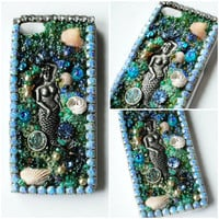 VENUS iPhone 5 Case // Blue Green // Mermaid Mythology Shells Glass Beads Rhinestone Crystals Vintage
