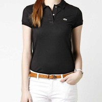 Hot Sale LACOSTE WOMEN Polo Shirt 100% COTTON TOP