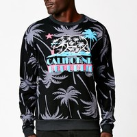 Riot Society Cali Vice Crew Neck Sweatshirt - Mens Hoodie - Black