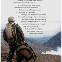 Marine Prayer, USMC, Afganistan, 5x7 Digital Photoprint