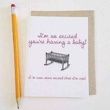 best funny baby shower cards products on wanelo