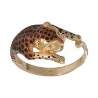 New York Gold Designs 14k Gold Leopard Ring (Yellow)