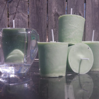 Sage and Citrus soy votive candles, sage candles, vegan candles