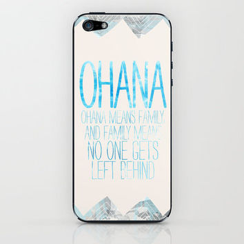 OHANA iPhone & iPod Skin by Sara Eshak | Society6
