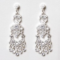 Three Tier Crystal Chandelier Drop Earrings – Claire's