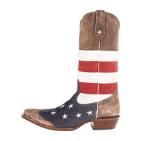 Roper American Flag Snip Toe Brown - Zappos.com Free Shipping BOTH Ways