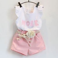 More Baby Kid Child Toddler Newborn Girl Top & Pants