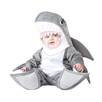 Baby Boys Girls Grey Shark Animal Halloween Fancy Dress Costume Outfit 18-24mths