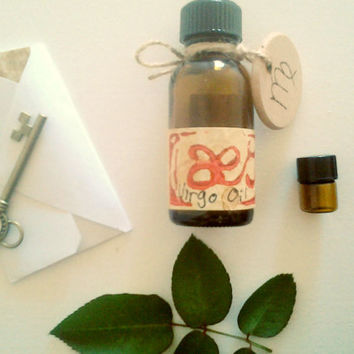 Virgo Oil: Rosewood, Cypress, Sage and Lavender, One Full Ounce Natural Perfume Oil Inspired by the Planetary, Elemental, Herb Lore of Virgo