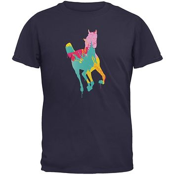 Splatter Horse Navy Youth T-Shirt