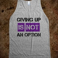 GIVING UP IS NOT AN OPTION TANK TOP PURPLE BLACK (IDA712347)