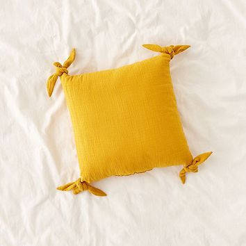Knotted Ties Throw Pillow | Urban Outfitters